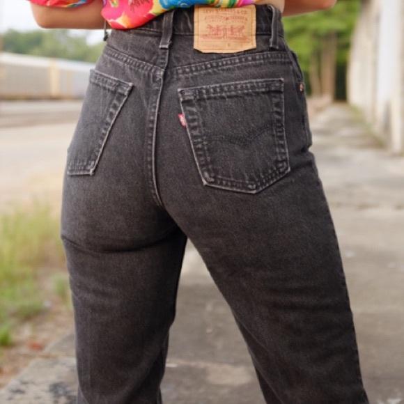 Levi's 512 Vintage Taper Leg Jeans Black